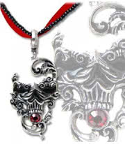 Alchemy Gothic Venetian Mask of Death Necklace