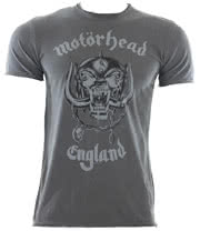 Amplified Motorhead England T Shirt (Charcoal)