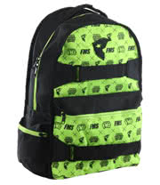 Famous Stars and Straps Apollo Backpack (Black/Lime)