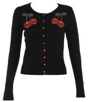 Banned Skull Cherries Cardigan (Black)