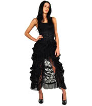 Banned Long Lace Skirt (Black)