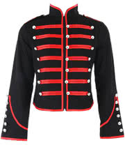 Banned Military Jacket (Black/Red)