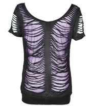 Banned Slash Top (Black/Purple)