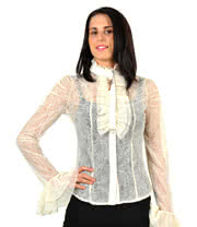 Banned Lace Shirt (White)