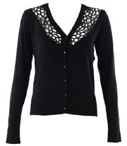 Bedroom Stories Net Cardigan (Black)