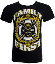 Ben Bruce Clothing by Asking Alexandria Family First T Shirt (Black)