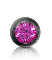 Black Titanium Jewelled 3mm Ball (Rose)