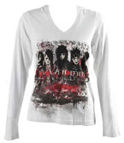 Black Veil Brides Destroy Skinny Fit Hoodie (White)