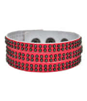 Blue Banana 3 Row Studded Wristband (Pink)