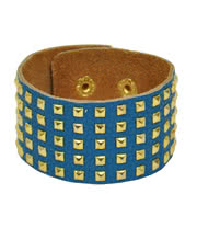 Blue Banana Small 5 Row Studded Wristband (Blue)