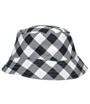 Blue Banana Checkered Festival Hat (Black/White)