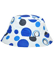 Blue Banana Circles Festival Hat (White/Blue)