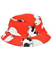Blue Banana Cows Festival Hat (White/Red)
