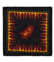 Blue Banana Flames Bandana (Black)