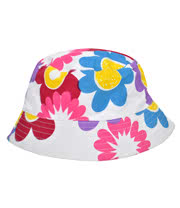 Blue Banana Flowers Festival Hat (Multi-Coloured)