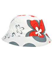 Blue Banana Flower Festival Hat (White/Red)