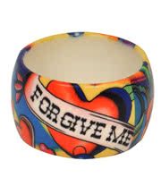 Blue Banana Forgive Large Print Bangle (Multi-Coloured)