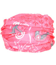 Blue Banana Large Paisley Headband (Pink)