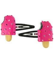 Blue Banana Lolly Hair Clips (Hot Pink)
