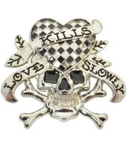 Blue Banana Love Kills Belt Buckle