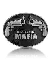Blue Banana Mafia Belt Buckle