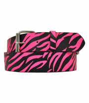 Blue Banana Neon Zebra Belt (Pink)