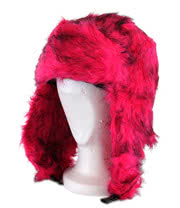 Blue Banana Furry Hat (Pink)