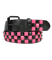 Blue Banana Studded Belt (Black/Pink)