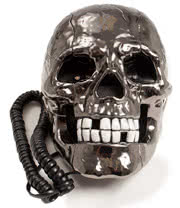 Blue Banana Plain Skull Telephone (Black)