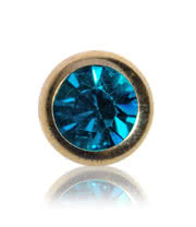 Blue Banana Plasma Gold 5mm Jewel Ball (Zircon)