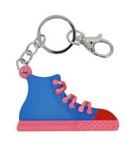 Blue Banana Shoe Keyring (Blue/Pink)