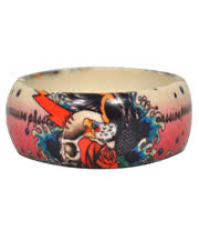 Blue Banana Eagle Print Small Bangle