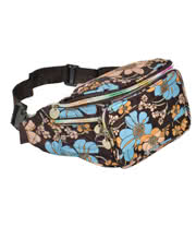 Blue Banana Flowers Small Bum Bag (Brown/Blue)