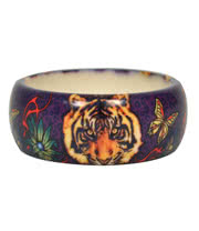 Blue Banana Tiger Print Small Bangle