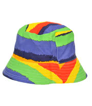 Blue Banana Multi-Stripe Festival Hat (Multi-Coloured)