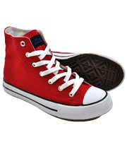 Blue Banana Canvas High Top Boots (Red)