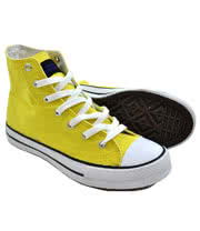 Blue Banana Canvas High Top Boots (Yellow)