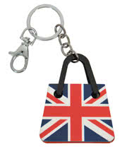 Blue Banana Union Jack Handbag Keyring (Blue/Red)