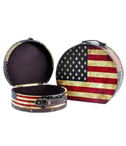 Blue Banana US Flag Keepsake Boxes (Set of Two)