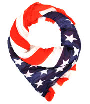 Blue Banana USA Flag Scarf (Red/Blue)