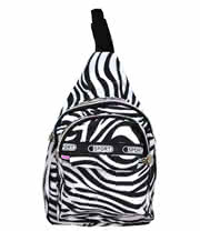 Blue Banana Zebra Mini Backpack (Black/White)