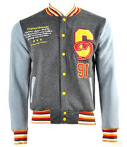 Criminal Damage Superstar Varsity Jacket (Charcoal)