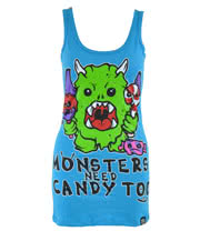 Cupcake Cult Monster Candy Vest Top (Blue)