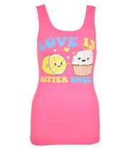 David and Goliath Love Is Pyjama Vest Top (Pink)