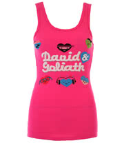 David and Goliath Hearts Vest Top (Pink)
