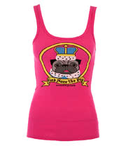 David and Goliath Royal Pug Vest Top (Pink)