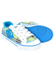 DC Chelsea Plaid Trainers (White/Lime)