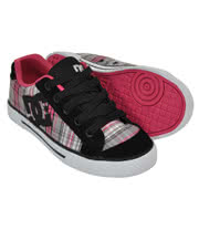 DC Chelsea Plaid Trainers (Grey/Pink)