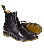 Dr Martens Flora Chelsea Boots (Cherry Red)