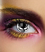 Edit 1 Year Skull Coloured Contact Lenses (Black/White)